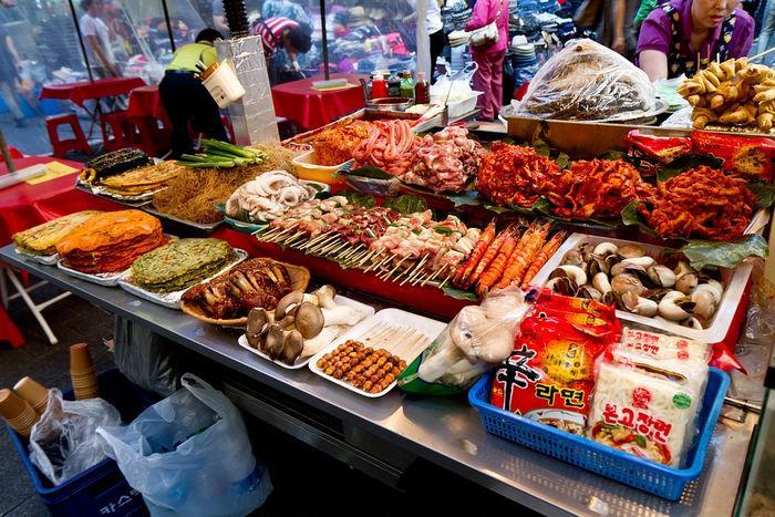 Корейский продуктовый рынок