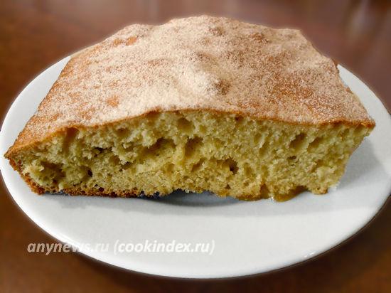 Бисквитный пирог с яблоками в духовке