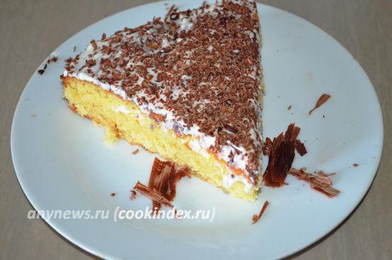 Простой домашний торт сметанник