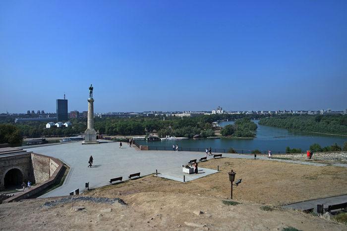 Панорама Белграда из парка
