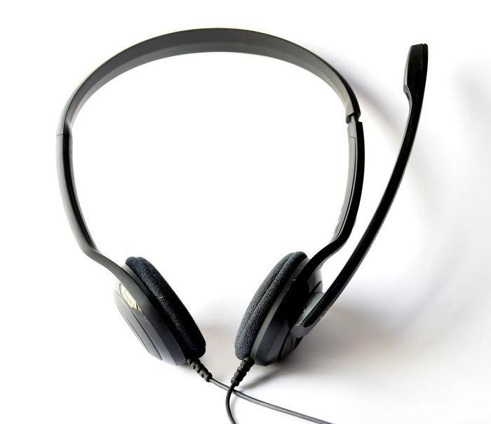 Накладные наушники с микрофоном