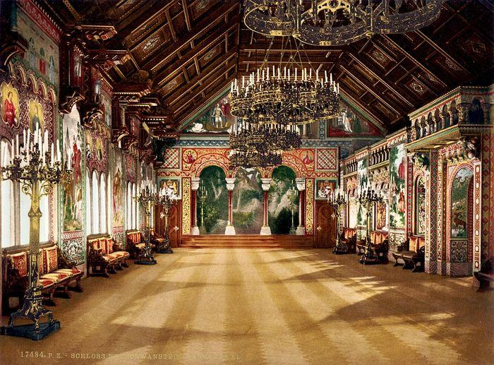 Замок Нойшванштайн, зал певцов