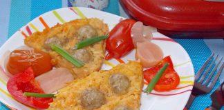 запеканка с фрикадельками и картошкой
