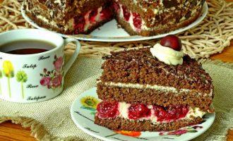 Шварцвальдский торт Черный лес - рецепт с фото