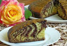 Пирог Зебра на сметане - рецепт