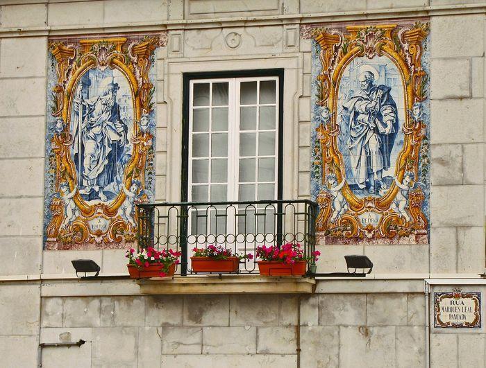 Азулежу на стенах домов
