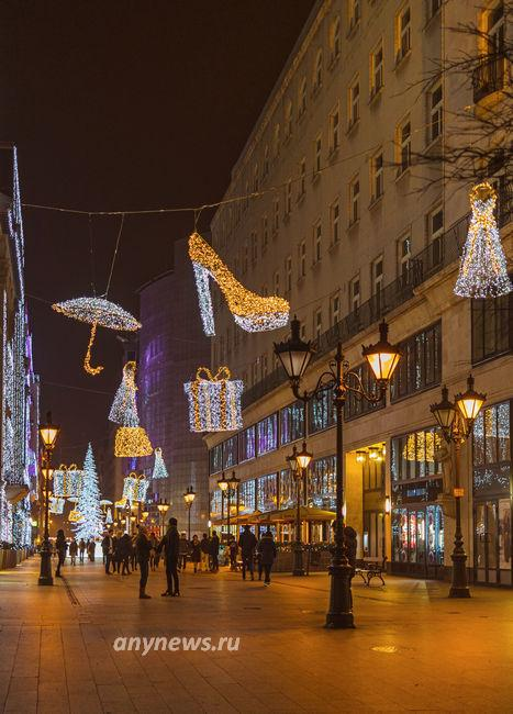 Будапешт, торговая улица