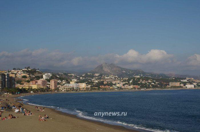 Малага, пляж