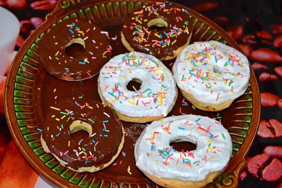 Ванильные пончики в глазури - рецепт