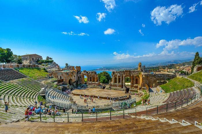 Руины античного театра, Таормина