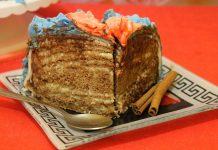 Трюфельный торт с кокосовым кремом и оформлением мастикой