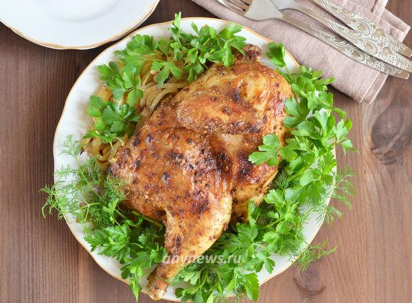Курица запеченная в фольге