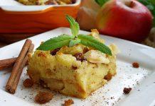 Хлебный пудинг с яблоками - рецепт с фото