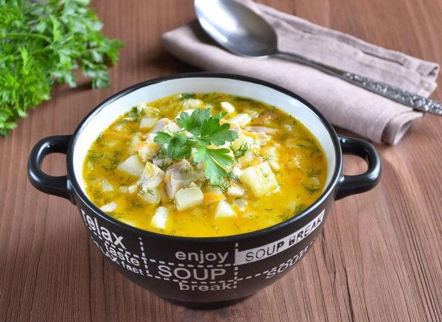 Сырный суп с курицей и плавленным сыром - рецепт с фото