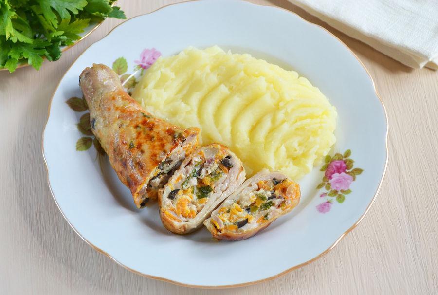 Куриные ножки фаршированные сыром - рецепт с фото