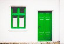 Чистая входная дверь