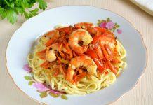 Креветки с овощами - рецепт