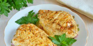 Куриное филе с сыром и помидорами - рецепт с фото