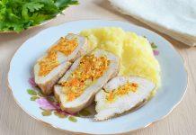 Куриная грудка фаршированная сыром Фета - рецепт с фото