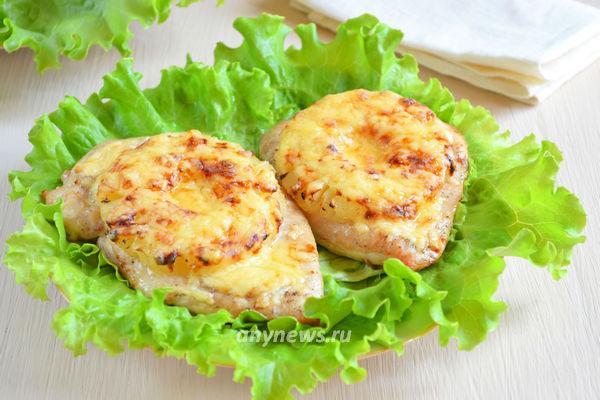 куриные отбивные с ананасом по-гавайски
