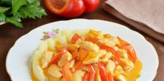 куриный паприкаш на сковороде - рецепт