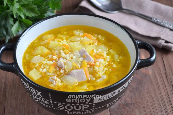 Куриный суп с пшеном и картофелем