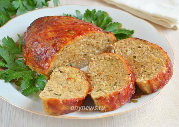 Митлоф - мясной хлеб из куриного фарша