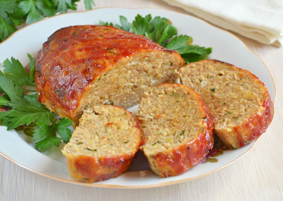 Мясной хлеб с сыром в фольге - рецепт с фото