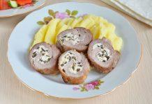 Рулет из свинины с маслинами и сыром Фета - рецепт с фото