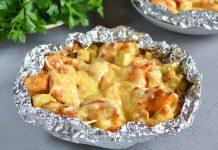 Куриная грудка с овощами и сыром - рецепт