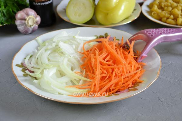 Макароны с овощами по-китайски