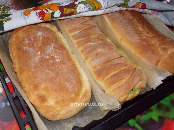 Дрожжевые пироги с разными начинками
