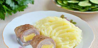 рулетики из свинины с сыром - рецепт
