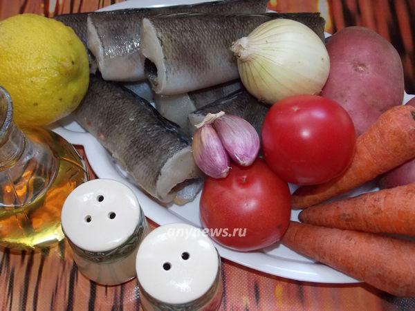 Нототения запеченная в духовке - ингредиенты