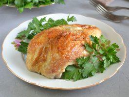 Куриная грудка с чесноком и майонезом - рецепт в духовке