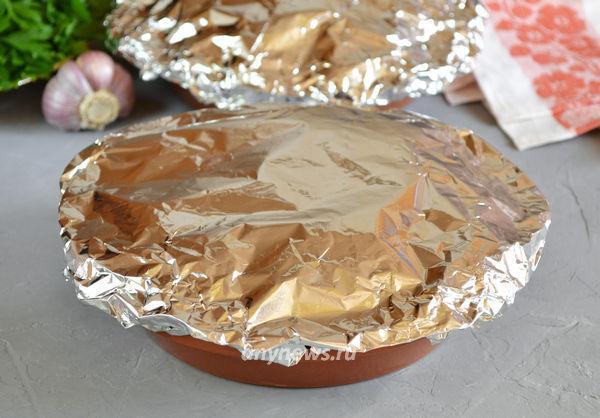 Куриная печень с тыквой в духовке