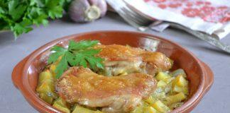 Куриные бедра с картошкой - рецепт