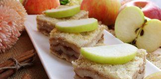 сухой пирог с яблоками и манкой - рецепт