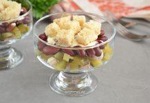 салат с вареной свининой и солеными огурцами - рецепт