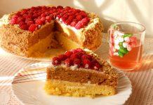 Сметанный торт со сметанным кремом - рецепт