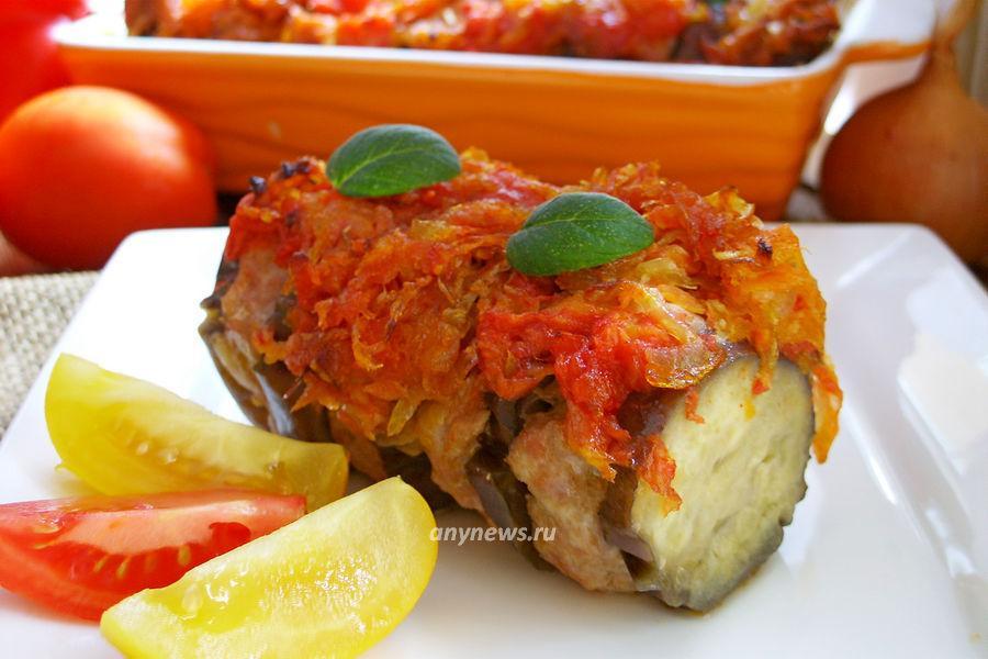 баклажаны с фаршем в духовке по турецки - рецепт