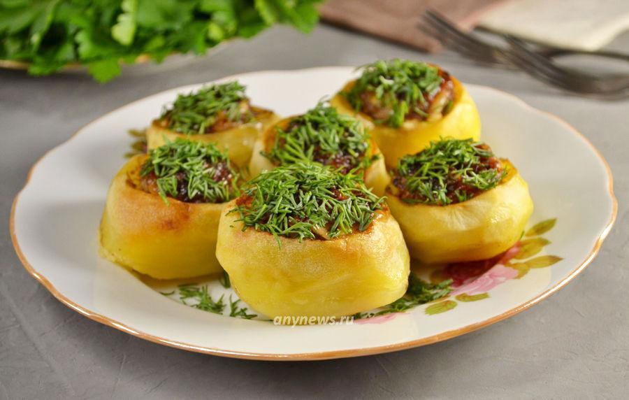 Картошка фаршированная фаршем - рецепт