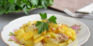 курица с картошкой в рукаве - рецепт