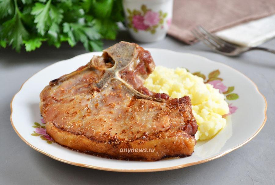 Свиная котлета на косточке - рецепт