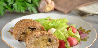 куриные зразы с грибами - рецепт