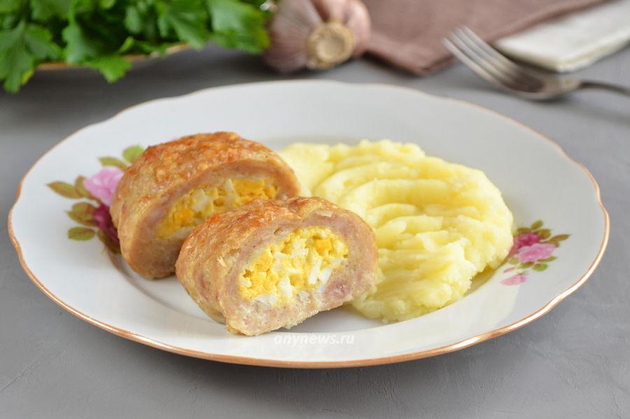 куриные зразы с яйцом - рецепт