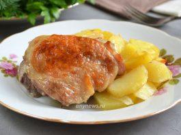 куриные бедра в рукаве - рецепт