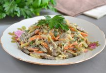 Салат с говяжьей печенью - рецепт