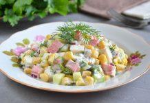 салат с крабовыми палочками и кукурузой - рецепт