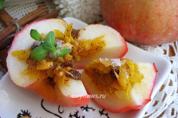 яблоки с тыквой в духовке - рецепт